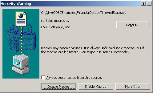 Macro Security in Microsoft Excel